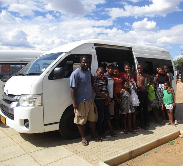 Kleinbus für das Dolam Kinderheim in Katutura